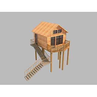 小木屋3d模型