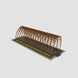 创意廊架3d模型