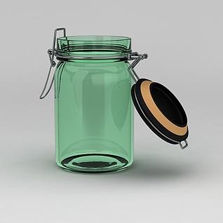 密封玻璃瓶3d模型