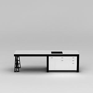 3d<font class='myIsRed'>办公桌</font>模型