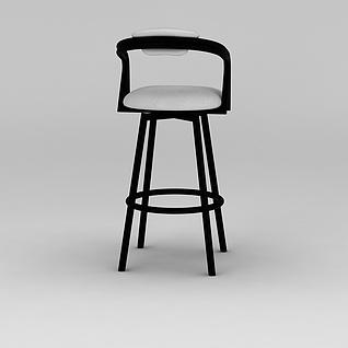 时尚高脚椅3d模型