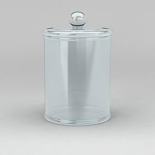 玻璃罐3d模型3d模型