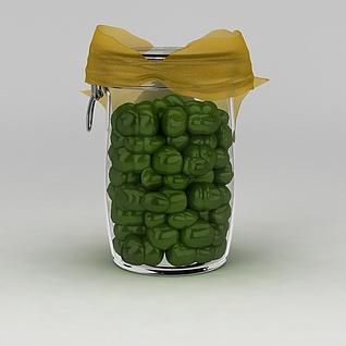 玻璃密封罐3d模型