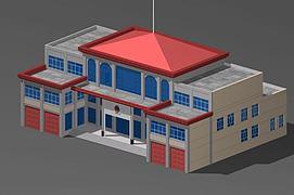 3d消防办公楼模型