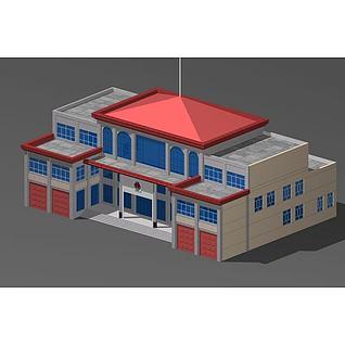 消防办公楼3d模型