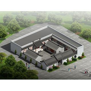 中式小院3d模型