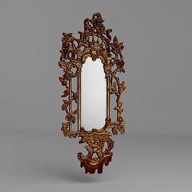 法式奢华镜模型