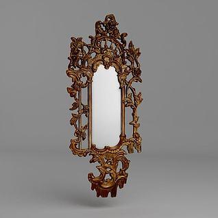 法式奢华镜3d模型