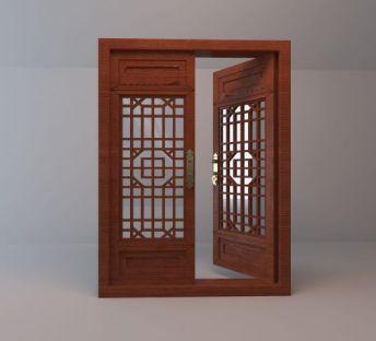 中式木质古窗