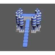 搅拌站3D模型3d模型