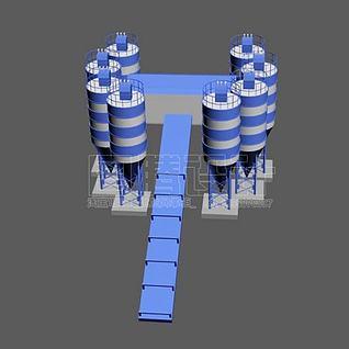 搅拌站3d模型