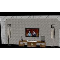 电视背景墙3D模型3d模型