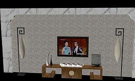 电视背景墙模型