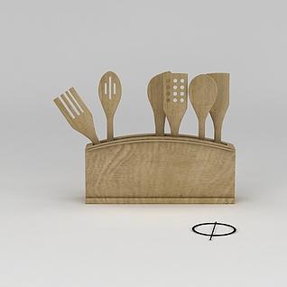 木质厨具摆件3d模型