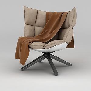 休閑懶人沙發椅模型