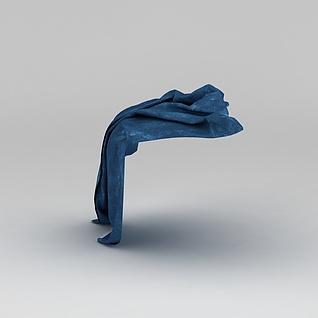 蓝色毯子3d模型