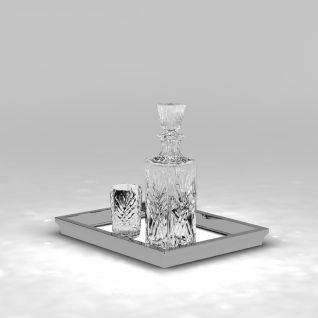 精致洋酒瓶3d模型