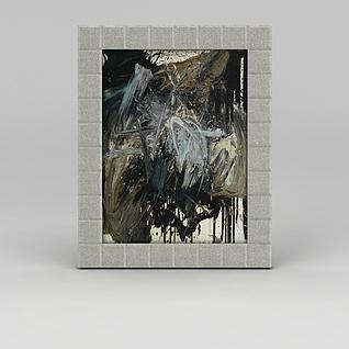 墙壁油画挂画3d模型3d模型