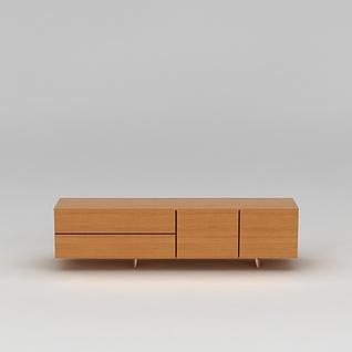 北欧实木电视柜3d模型3d模型