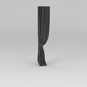 黑色窗帘模型