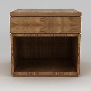 实木床头柜3d模型