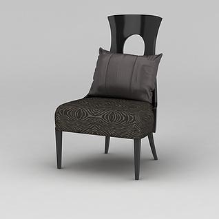 现代靠背椅3d模型