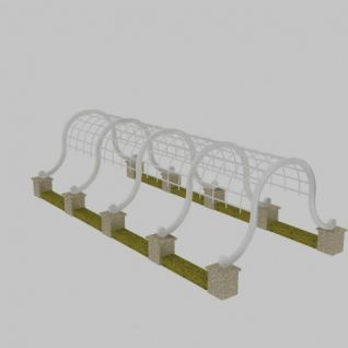 欧式廊架3d模型