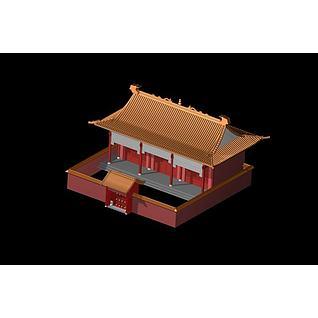 古建筑宫殿3d模型