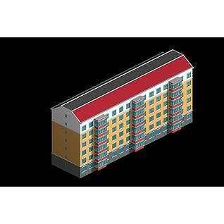 6层住宅楼3d模型