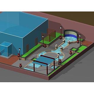 室外庭院3d模型