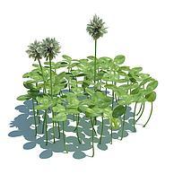 公园花草3D模型3d模型
