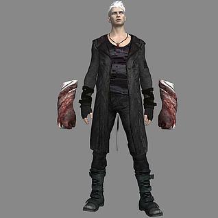 游戏角色但丁3d模型