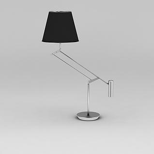 金属可调节台灯3d模型