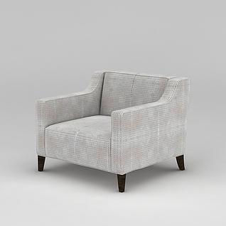 单人沙发椅3d模型