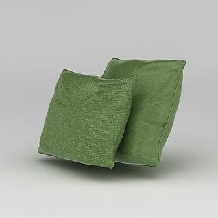 绿色抱枕3d模型