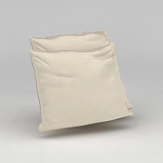 纯色沙发靠枕3d模型
