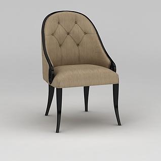 美式餐椅3d模型