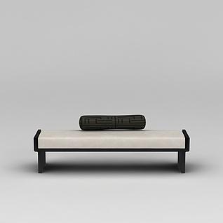 长沙发凳3d模型