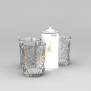 玻璃杯3d模型