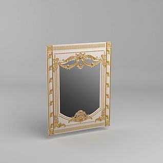 法式镜子3d模型