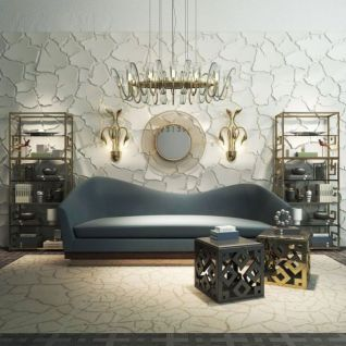 现代沙发茶几裂纹背景墙组合3d模型