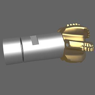 石油普通钻头3d模型