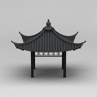 四角亭3d模型3d模型