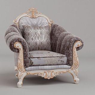 高贵法式沙发3d模型