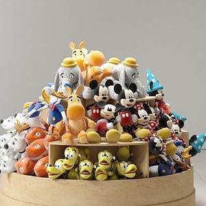 商场玩偶货柜模型