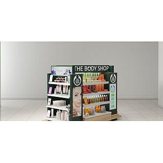 商场化妆品柜台3d模型