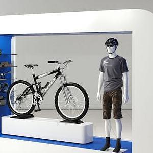 商场展示货台模型