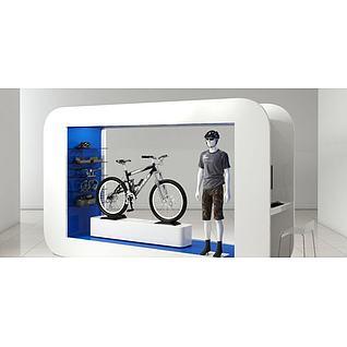 商场展示货台3d模型