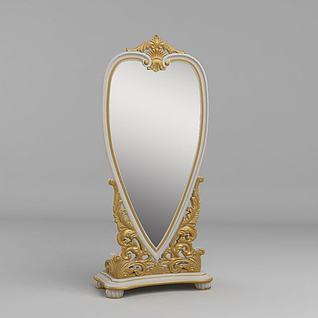 奢华法式镜子3d模型