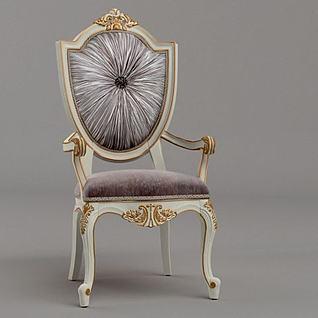 奢华法式单椅3d模型
